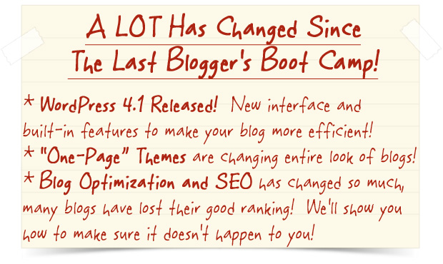 2015 Blogger's Boot Camp