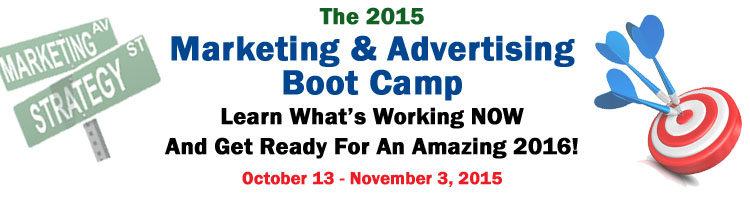 2015 Marketing and Advertising Boot Camp