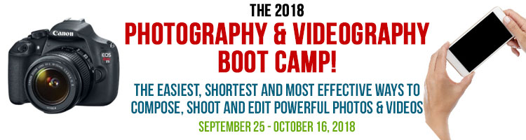 2018 Photography and Videography Boot Camp
